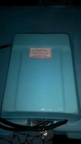 ofurô em fibra azul com aquecedor