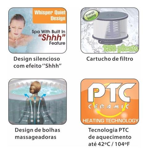 ofurô piscina spa inflável hidromassagem 4 pessoas ntk 220v