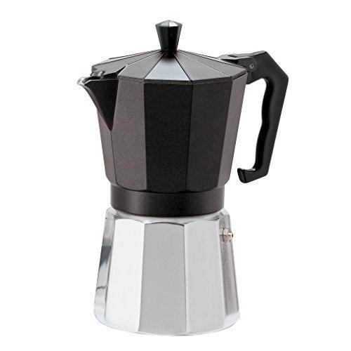 oggi 65713 estufa cafetera de espresso 6 tazas, aluminio fun