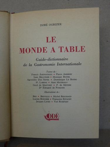 ogrizek, d. le monde a table. 1952