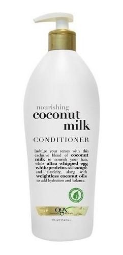 ogx coconut milk shampoo y acondicionador (2 pack)