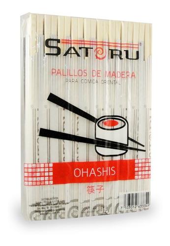 ohashi, palillos de madera con 40 pares