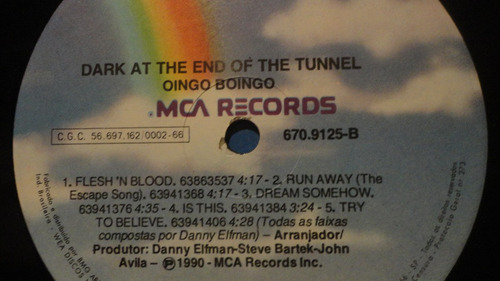 oingo boingo - dark end of the tunnel lp encarte