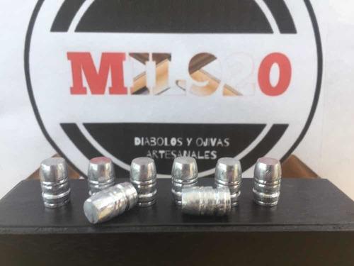 ojivas cal.45 big bore para co2 pcp / 50 piezas