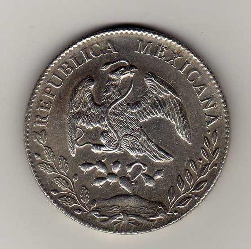 ojo. 8 reales de cn.1891 a.m. bu.