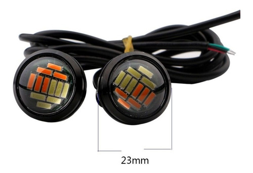 ojo de aguila led jetta audi bmw faro doble color 12 led 1pz