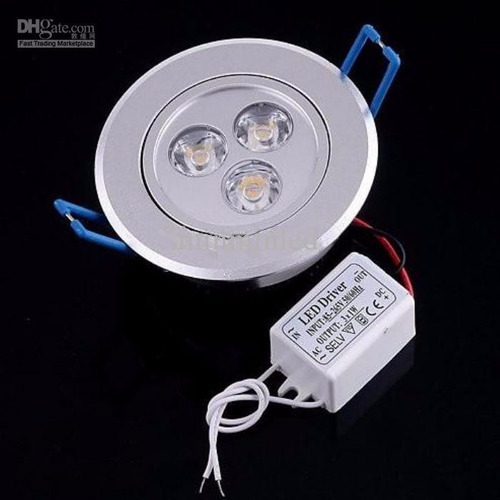 ojo de buey led tipo panel 3w 5w 9w luces gypsum decoracion