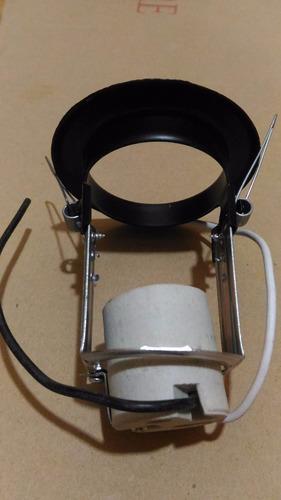 ojo de buey negro con socates de porcelana
