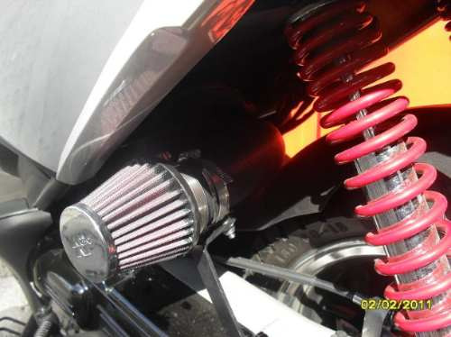 $ojo$ filtro k&n cónico para motos chicas, scooters y bw's