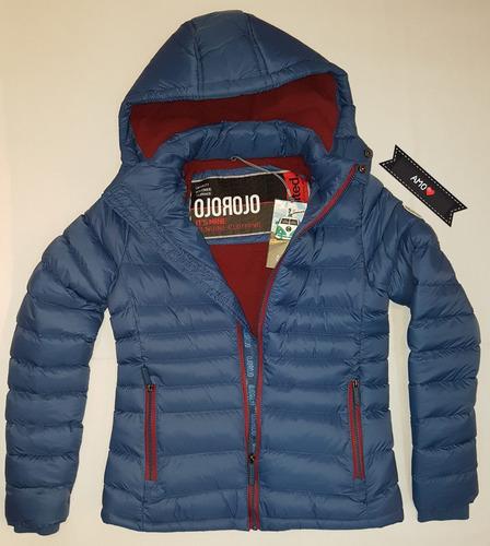 ojo rojo abrigo campera nylon mujer 420 importado amo