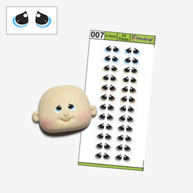 Ojos Autoadhesivos Para Porcelana Fría Artesano Ojos 07 4mm