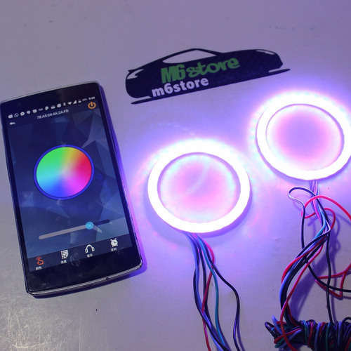 ojos de angel bluetooth android faros niebla bmw led cob