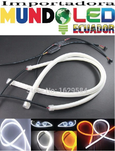 ojos de angel kit completo de 2 tiras flexibles led 60 cm