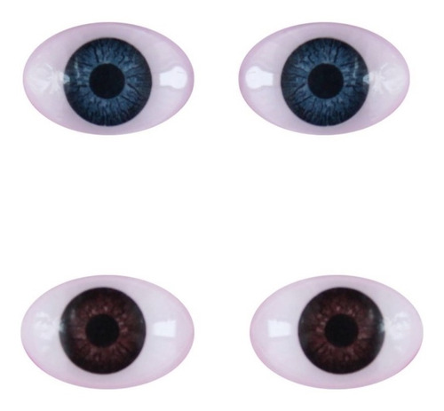 ojos elipticos nro 16 reales duendes muñecos muñecas x 10u