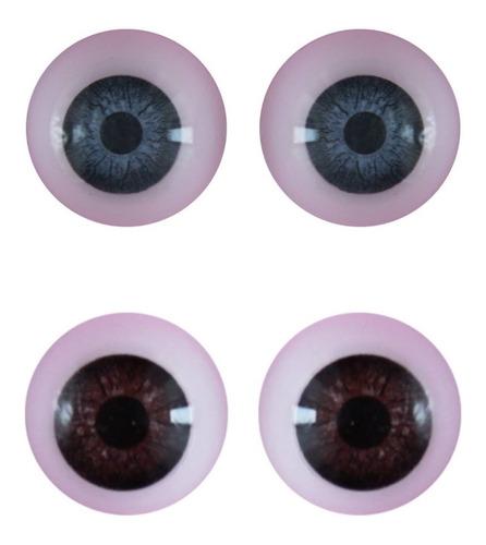 ojos redondos nro 12 reales duendes muñecos muñecas x 10u