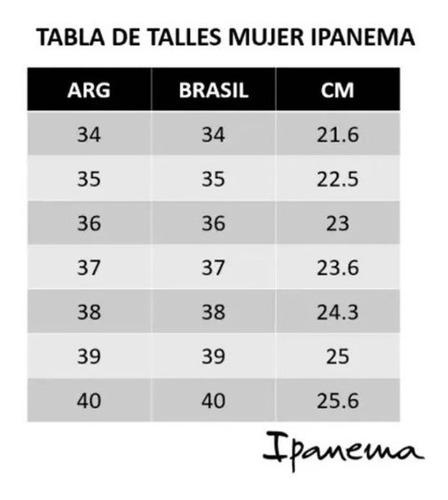 ojota de mujer ipanema originales slim con tiras finitas