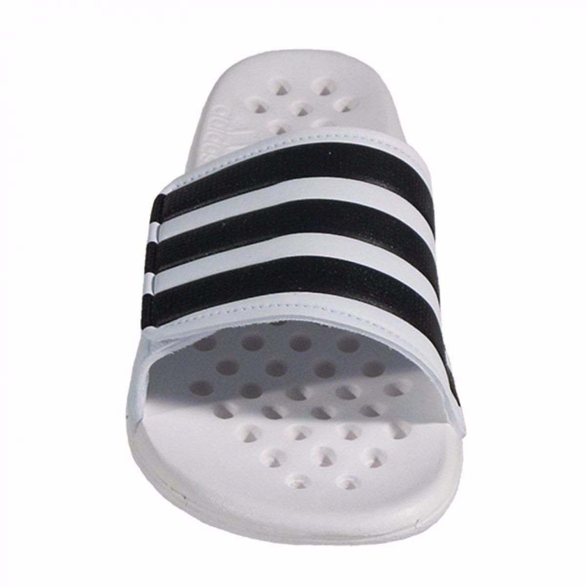 ojotas de natación adidas alquo vario velcro blanco y negro. Cargando zoom. 8d6d1b21271