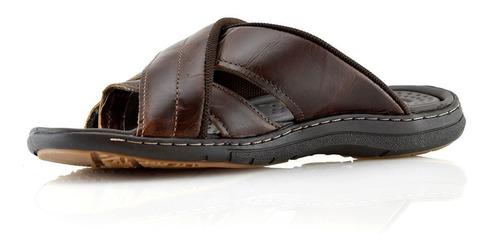 ojotas sandalias hombres cuero 132703-11 pegada luminares