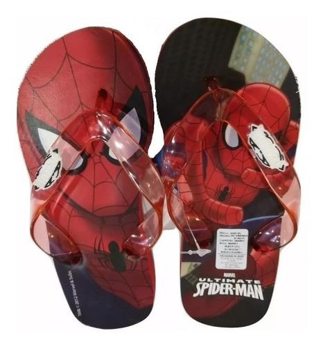 ojotas spiderman hombre araña marvel comics fty calzados