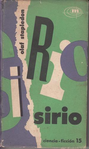 olaf stapledon sirio primera edicion 1961 minotauro novela