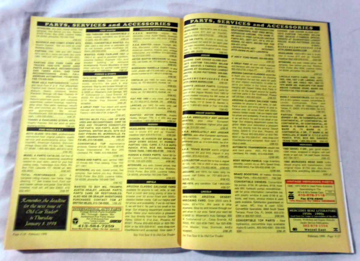 Old Car Trader - February 1998 - $ 120,00 en Mercado Libre