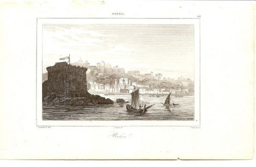 old engrawings - brazil -  salvador - 1837