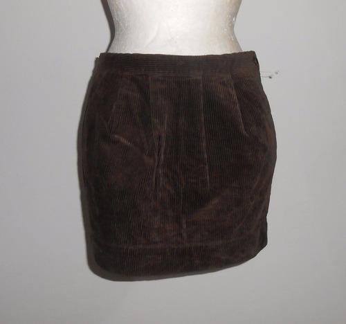 old navy minifalda de pana color chocolate talla 4 nueva