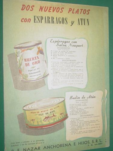 old paper advertising publicidad huerta de oro pez de oro