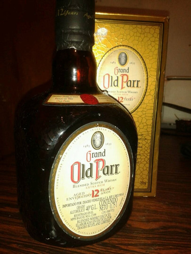 old parr whisky 12 años botella calidad 750ml