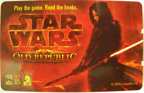 old republic star wars  del rey dark horse game card sith