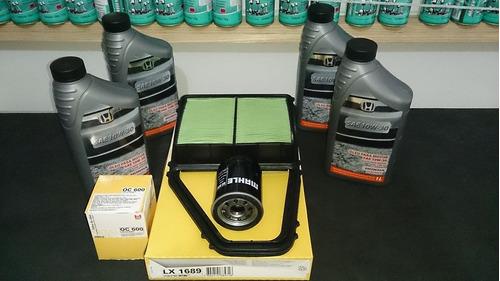 óleo 10w30 honda original + filtros civic 1.7 ano 01 á 06
