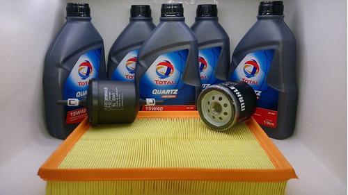 óleo 15w40 semi sintetico vectra gt gtx kit 5 lts + filtros