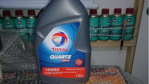 óleo 15w50 total + kit filtros mahle - citroën - c3 - todos