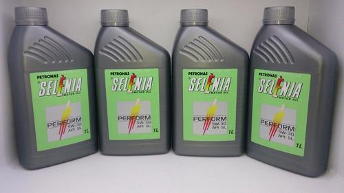 óleo 5w30 api sn 100% sintético selenia fiat ford kit 4 lts