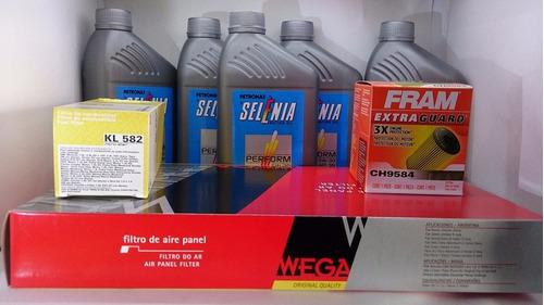 óleo 5w30 sintético + kit filtros idea  punto e-torq 1.8 16v