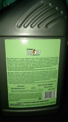 óleo 5w30 sn 100% sintético ford ka fiesta focus kit 4 lts