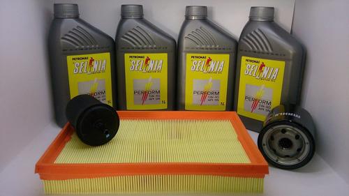 óleo 5w40 sn sintético + kit filtros gol g5 g6 1.0 8v
