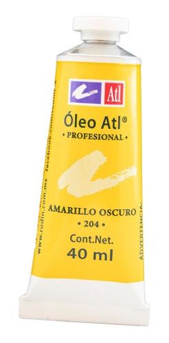 oleo atl 40 ml amarillo obscuro nº.204 pintura arte rodin
