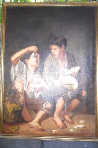 oleo bartolome esteban murillo,muy antiguo. o canjeo.,copia