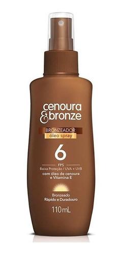 óleo bronzeador spray cenoura bronze fps6 110ml