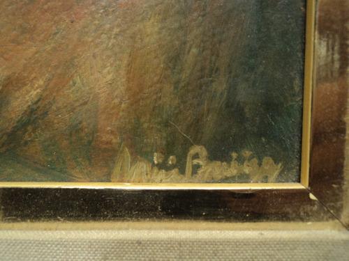 oleo campestre criollo paisaje campo firmado