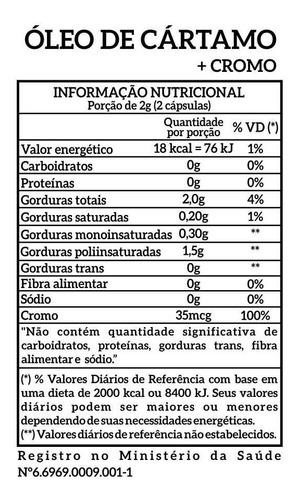 óleo cártamo+cromo 120 softgels newnutrition - melhor preço!
