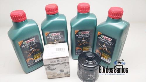 oleo castrol 502 00 5w40 stop start volkswagen+ filtro oleo
