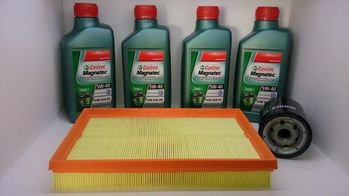 óleo castrol 5w 40 sintético + kit filtro polo golf 1.6 8v