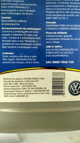 óleo castrol magnatec 5w40 100% sintético api sn 05 litros