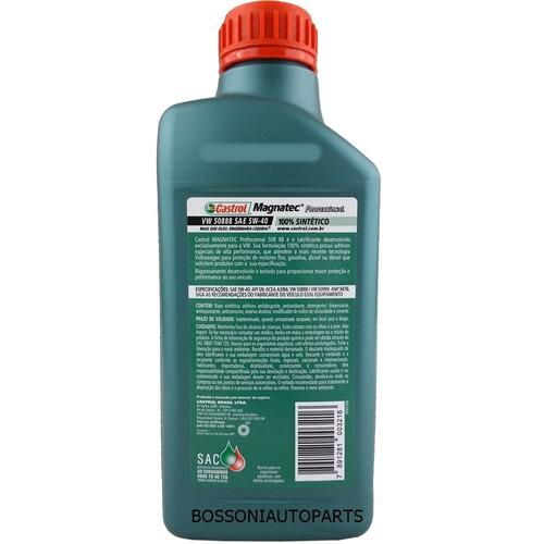 óleo castrol magnatec 5w40 vw 508 88 profissional 1lt