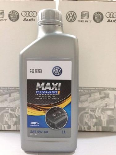 óleo castrol maxi perf 5w40 502 original vw 100% sintético