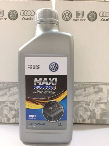 óleo castrol maxi perfor 5w40 502 original vw 100% sintético