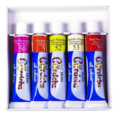 oleo córdoba - kit de pintura 8 articulos