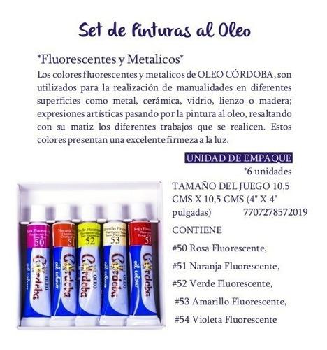 oleo córdoba - paga 2 y lleva  3, set surtido fluorescentes